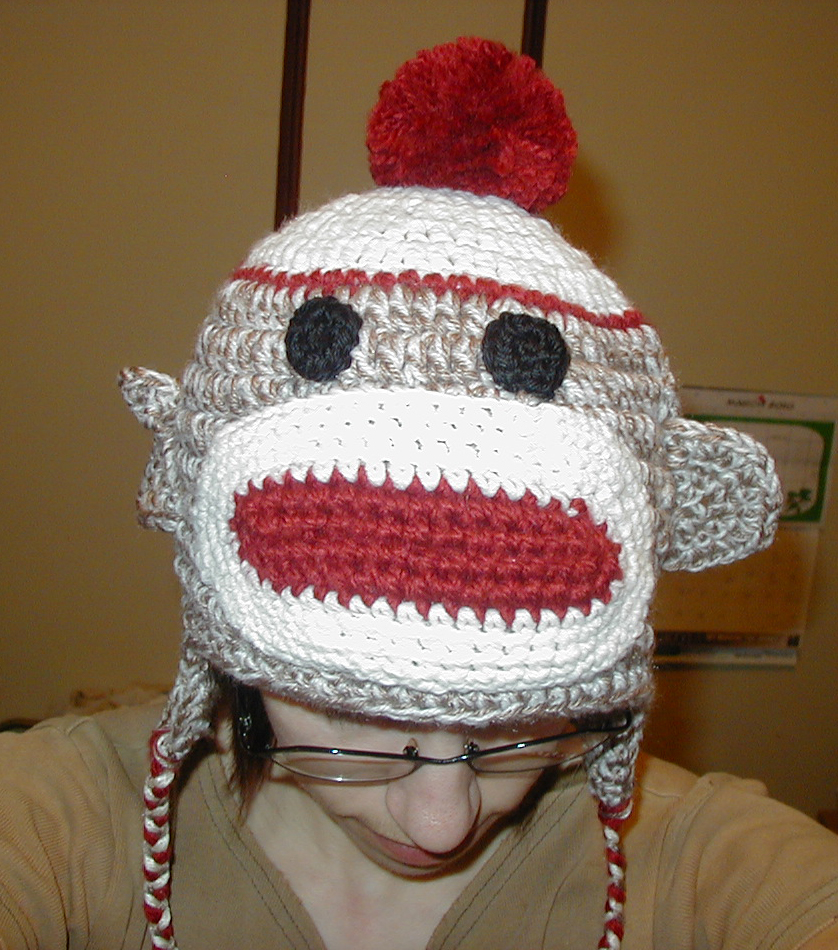 Sock Monkey Hat Knitting Pattern : CROCHETED SOCK PATTERNS - FREE PATTERNS