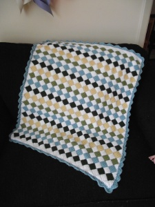 Baby diamonds blanket