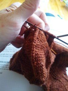 Close up of the bind off